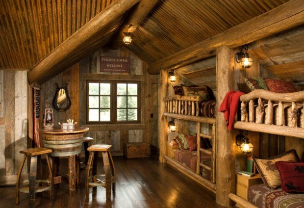 21 rustic log cabin interior design ideas style motivation artnak Rustic Log Cabin Interiors