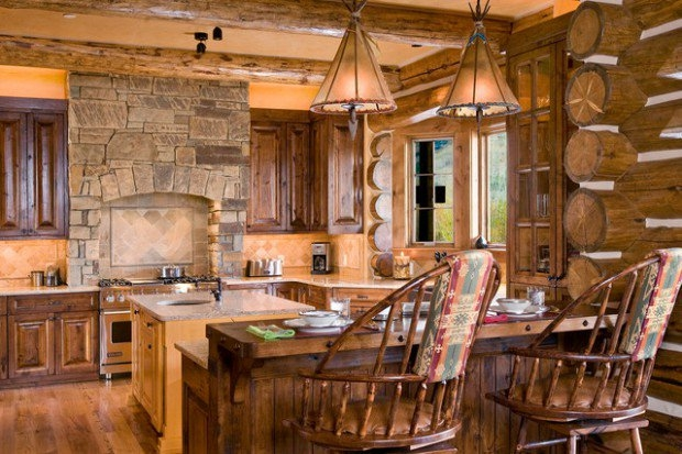 21 rustic log cabin interior design ideas style motivation Rustic Log Cabin Interiors