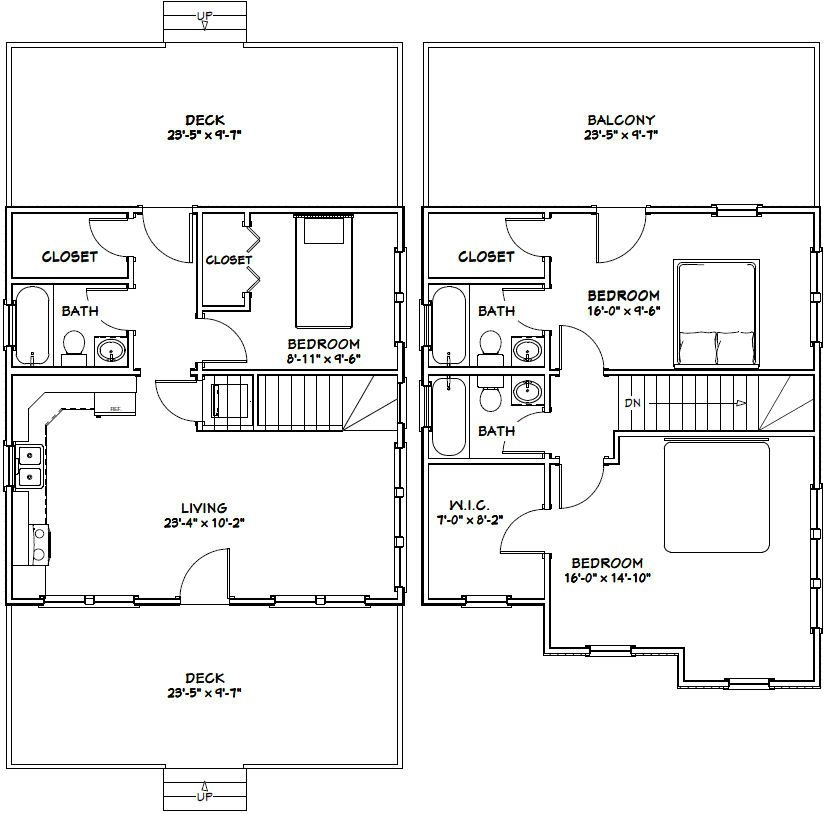 24x24 house 24x24h2 1143 sq ft excellent floor plans 24x24 Cabin Floor Plans With Loft