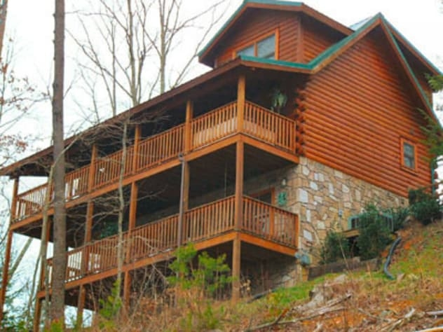 ahhhthe view log cabin black bear falls resort rental Cabins In Tennessee Gatlinburg