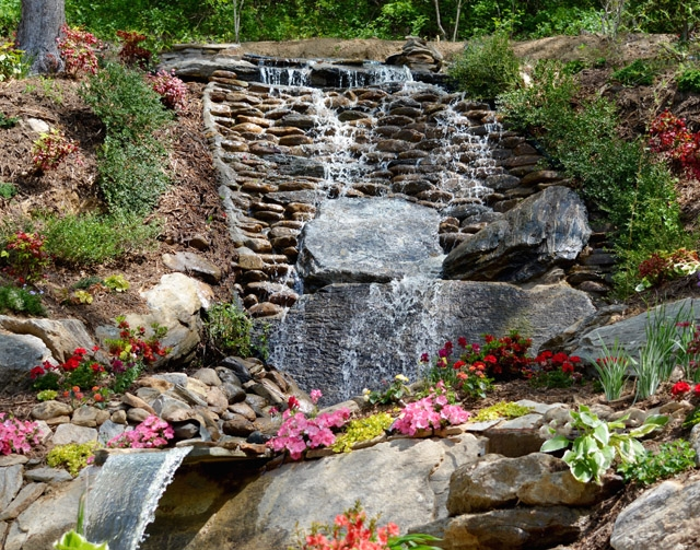 asheville cabins of willow winds unveils new waterfall at luxury Asheville Cabins Of Willow Winds Asheville Nc