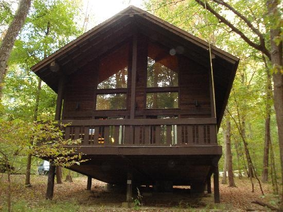 back view of cabin picture of abe martin lodge nashville Cabins In Indiana State Parks
