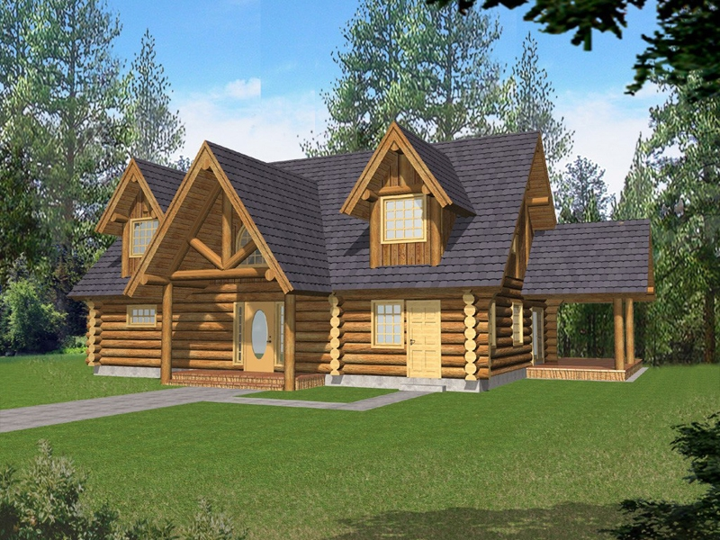 badenhaus log cabin style home plan 088d 0056 house plans and more Log Cabin Style House Designs