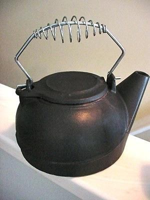 black cast iron kettle wood stove humidifier pot steamer fireplace Log Cabin Wood Stove Steamer