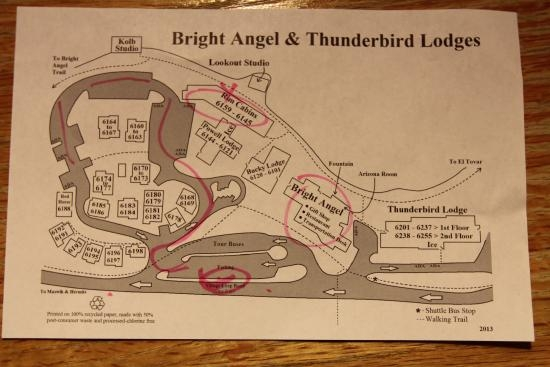 bright angel cabin map picture of bright angel lodge grand canyon Bright Angel Lodge & Cabins