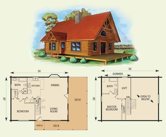 cabin floor plans with loft log cabin with loft floor plans esprit Small Cabin With Loft Floor Plans