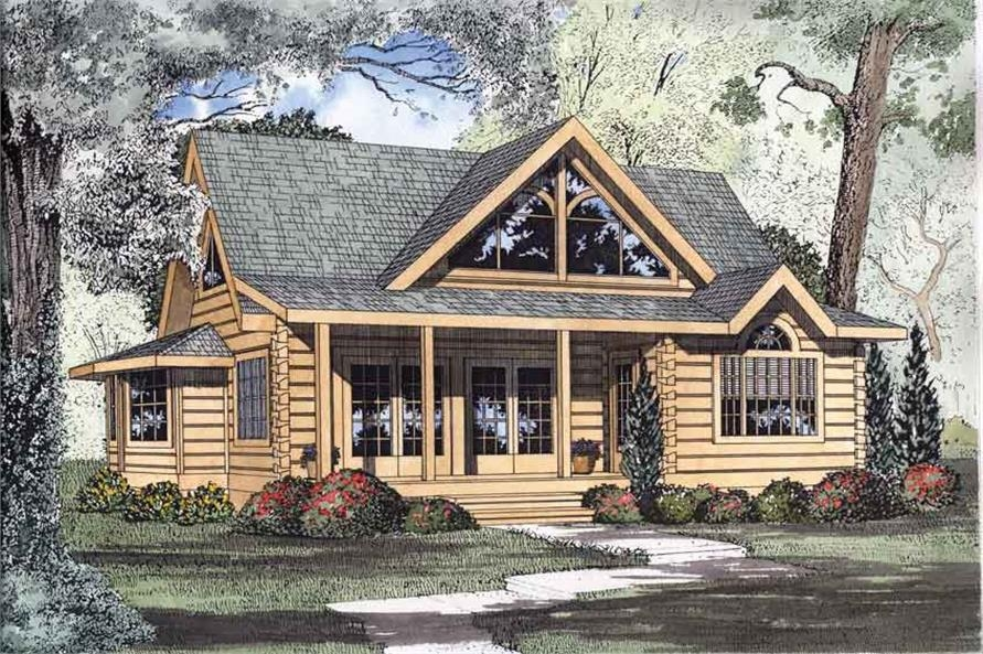 cabin plans log home plans the plan collection Log Cabin Style House Designs