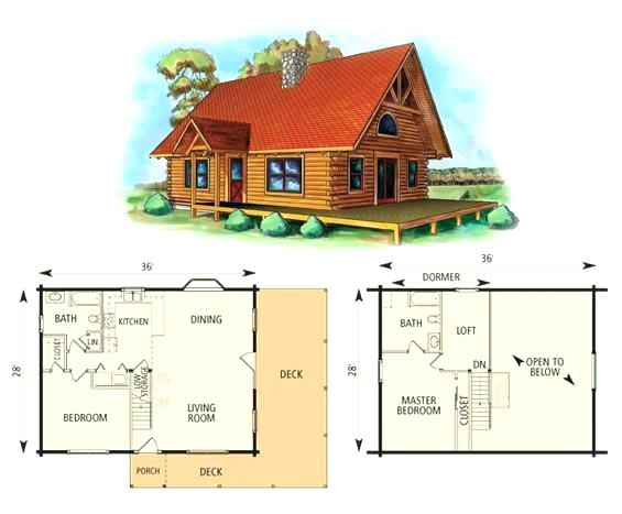 cabin plans with loft bedroom krichev 2 Bedroom Cabin Plans With Loft