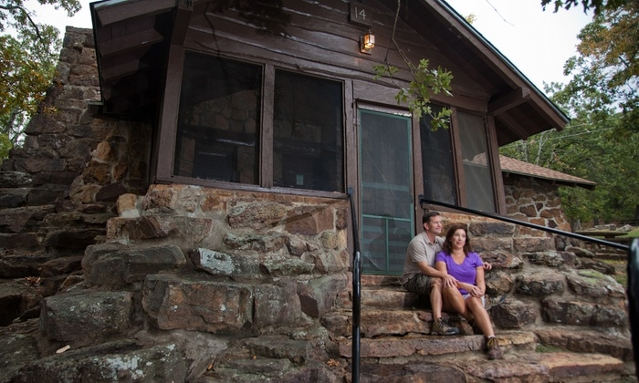 cabin stay for four greenleaf state park groupon Oklahoma State Park Cabins