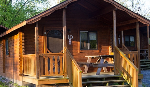 cabins basic log and deluxe hersheypark camping resort Pa Campgrounds With Cabins