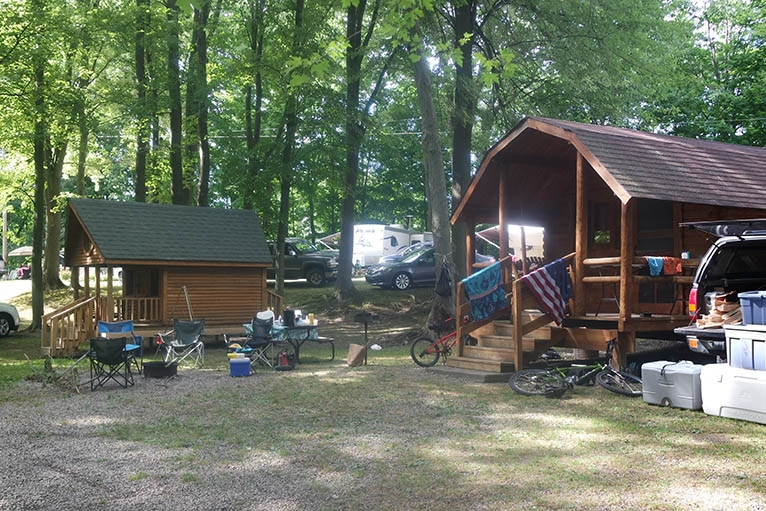 camping cabins snow lake kampground Michigan Campgrounds With Cabins