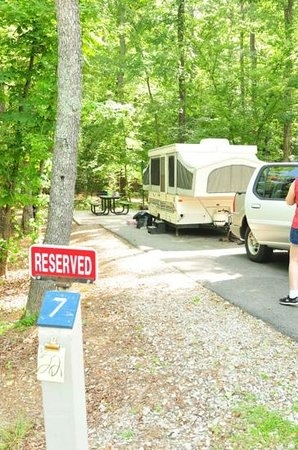 campsite 7 is great shower and park picture of crater of Crater Of Diamonds State Park Cabins