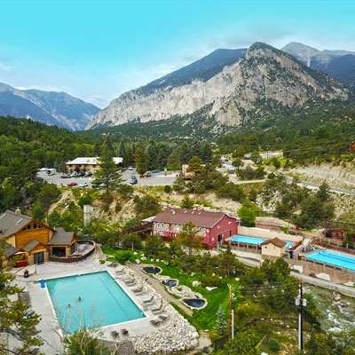 colorado hot springs cabin rentals hotels and lodging Mt Princeton Hot Springs Cabins