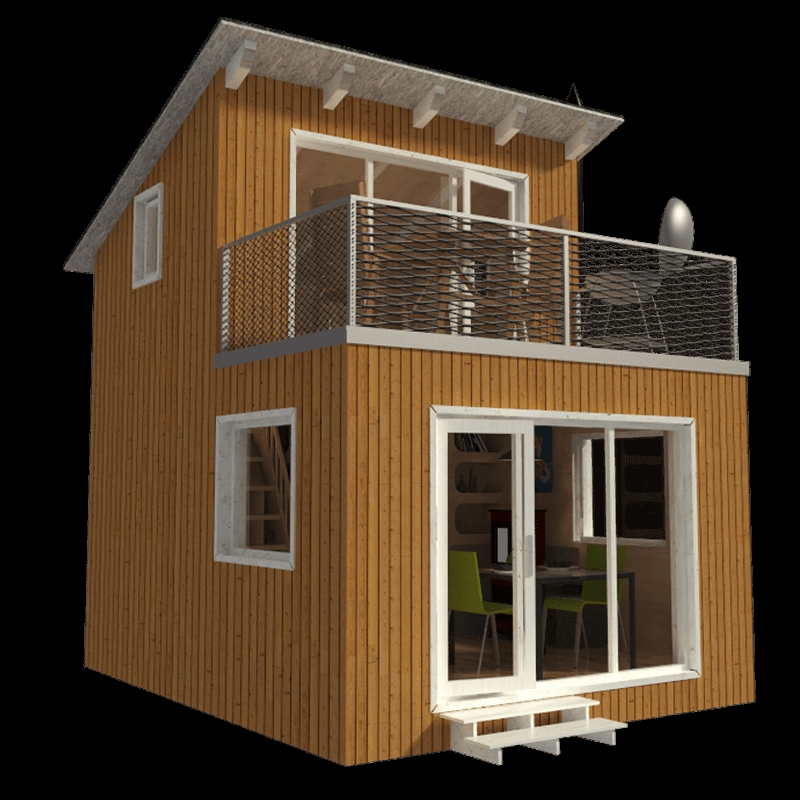 contemporary cabin plans Modern Cabin Plans With Loft