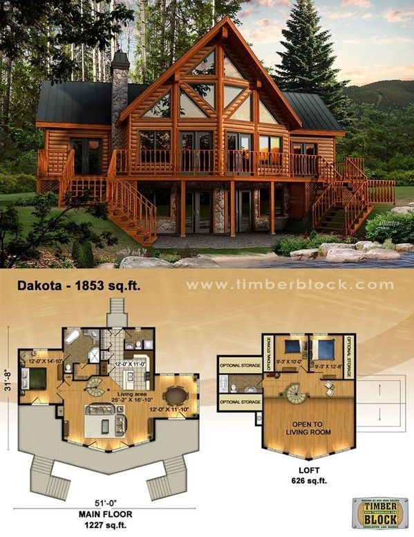 dakota plan i want to live in this house the kitchen and living Log Cabin House Plans With Loft