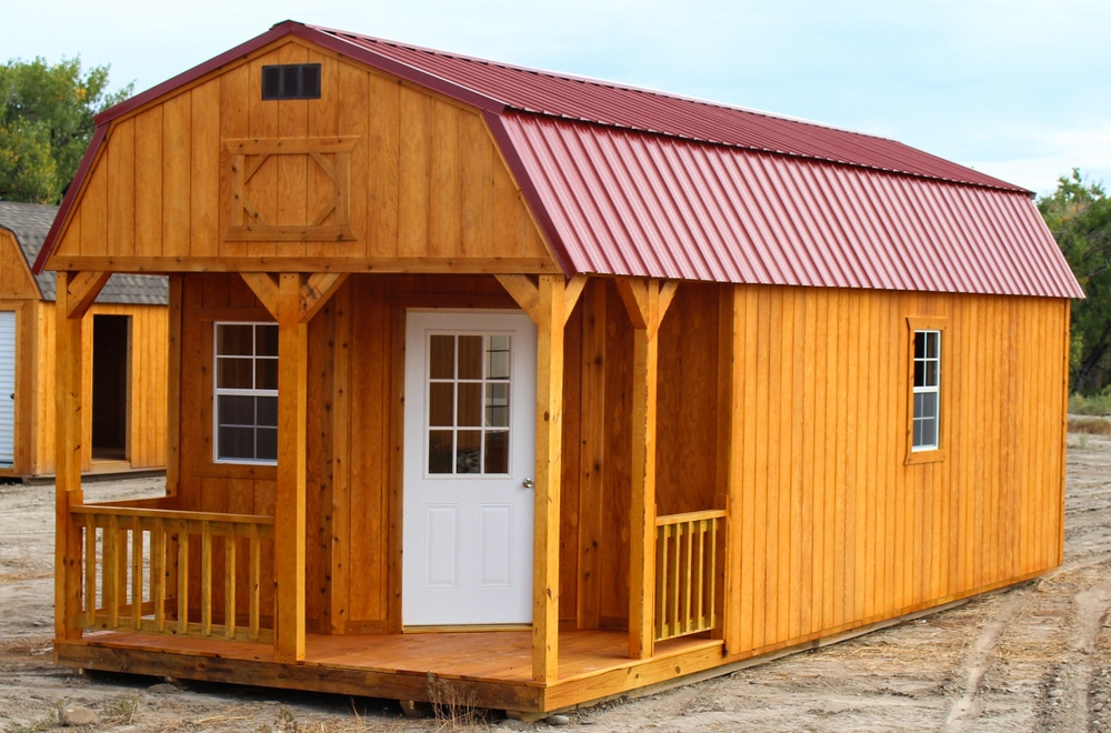 deluxe lofted barn cabin cumberland buildings sheds Lofted Deluxe Barn Cabin Building