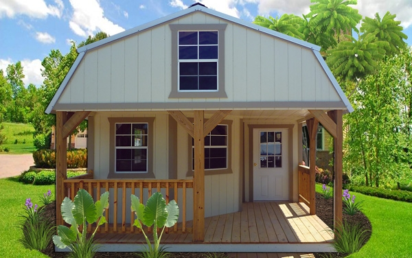 deluxe lofted cabins carports portable storage buildings san Deluxe Lofted Barn Cabin For Sale