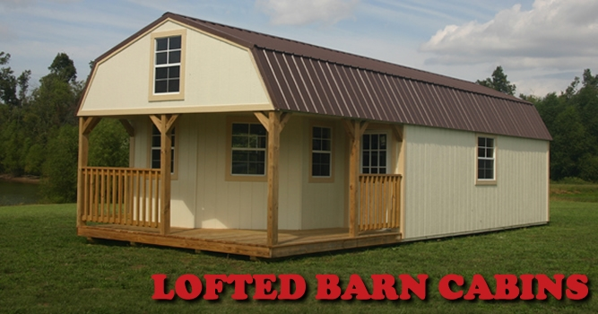 derksen portable lofted barn cabins enterprise center Deluxe Lofted Barn Cabin Price