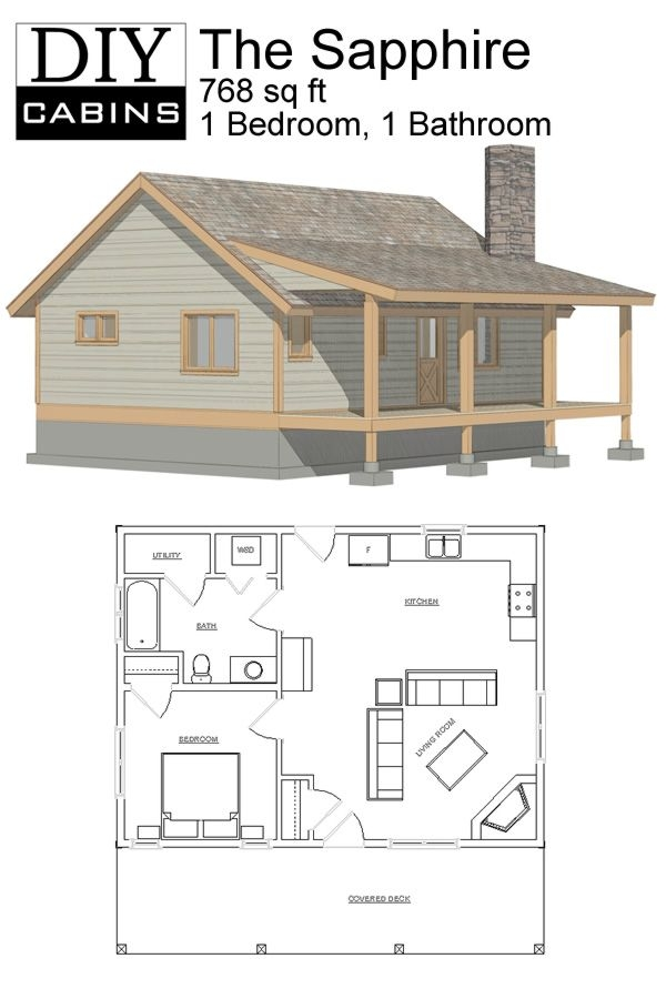 diy cabins the sapphire cabin house plans small pinterest Cost To Build A Small Cabin