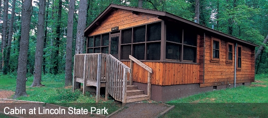 dnr family cabins fees reservations Harmonie State Park Cabins