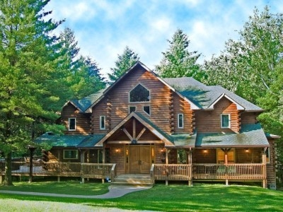 eagles nest log home vacation rental in brown county indiana Cabins In Brown County Indiana