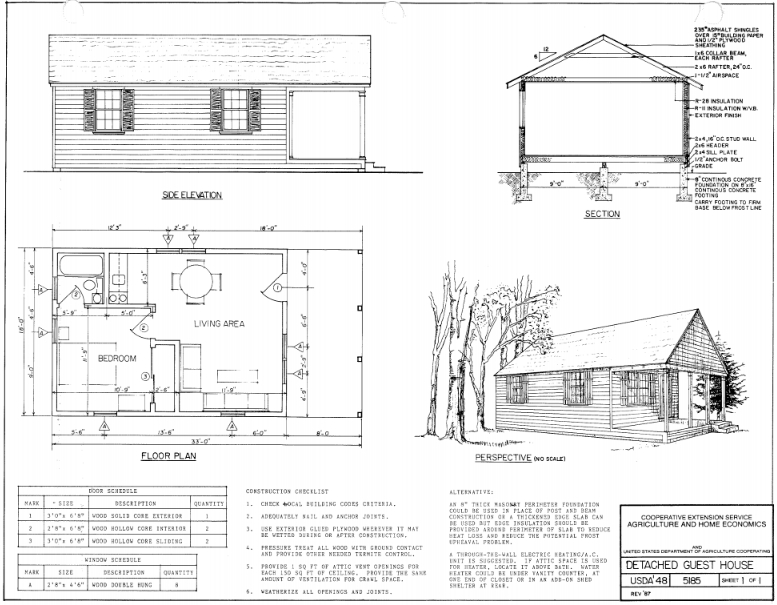 free small cabin plans One Bedroom Cabin Floor Plans