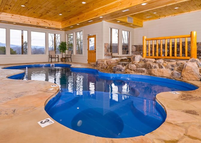 gatlinburg cabins with pools Cabins With Private Indoor Pools