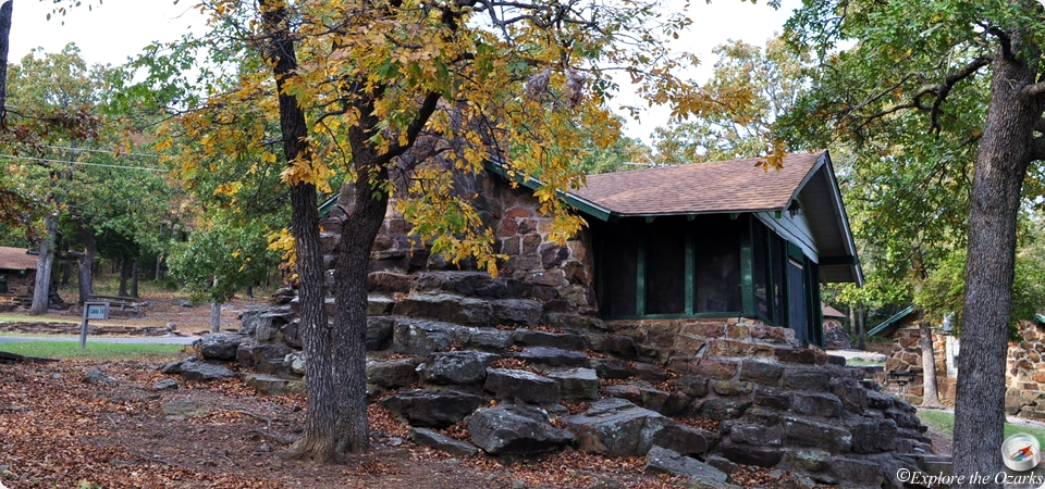 greenleaf state park cabins camping explore the ozarks Oklahoma State Park Cabins
