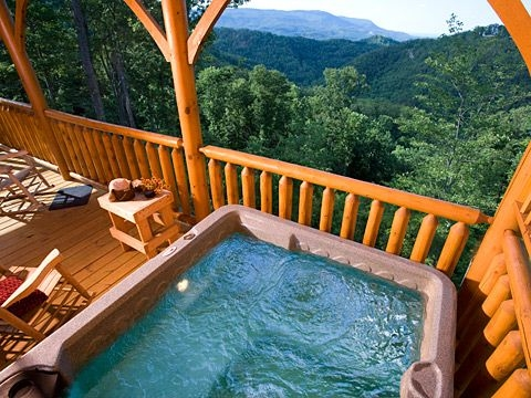 heavenly inspired 1 bedroom cabin located in sevierville til Smoky Mountain Honeymoon Cabins