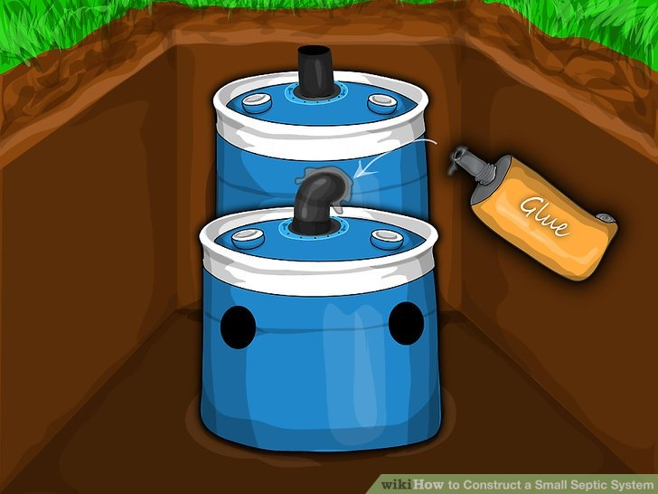 how to construct a small septic system with pictures wikihow Small Septic Tank For Cabin