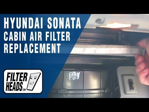 how to replace cabin air filter hyundai sonata youtube Hyundai Sonata Cabin Air Filter