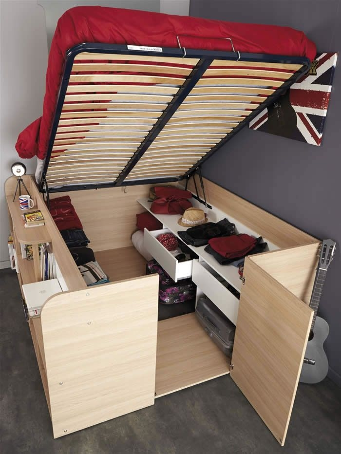 kids avenue space up double cabin bed with storage 1531lico free Kids Cabin Beds With Storage