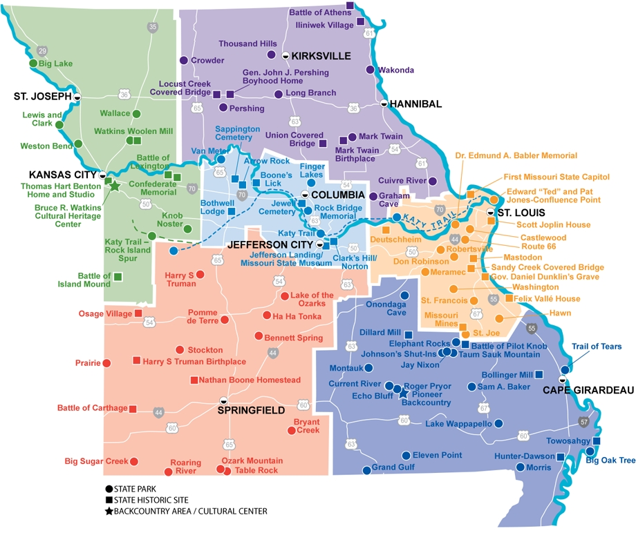 locator map missouri state parks Missouri State Parks With Cabins
