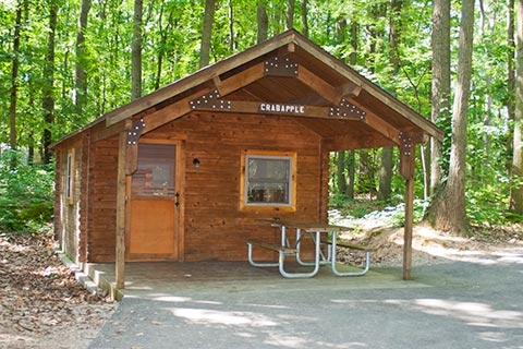 lodging locations map Keystone State Park Cabins