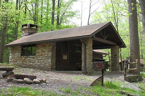 lodging locations map Pennsylvania State Park Cabins