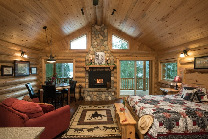 lodging near glacier national park at a dude ranch the dude Cabins Near Glacier National Park