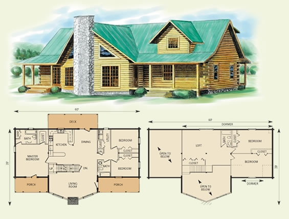 log cabin plans with loft shining ideas home house deco stunning Cabin Floor Plans With A Loft
