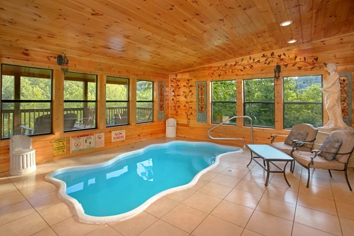 luxury pigeon forge cabin with view and indoor pool Cabins In Sevierville Tennessee