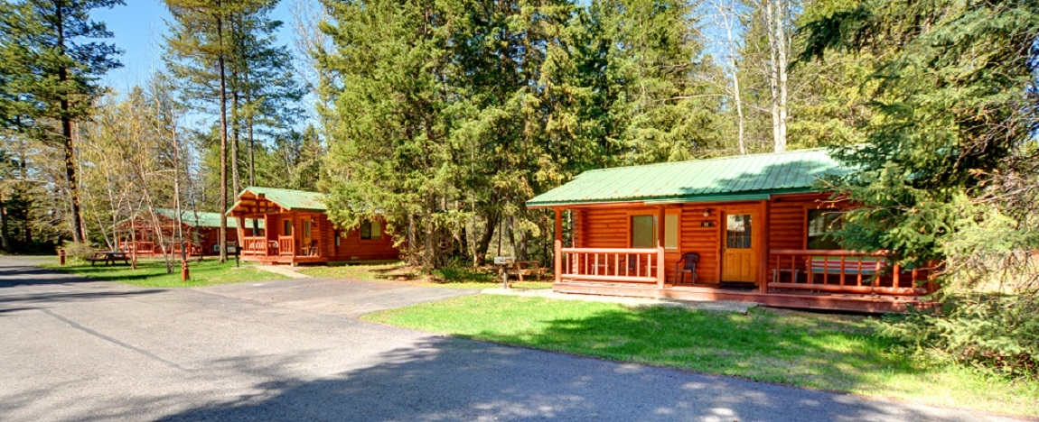 north forty resort log cabin lodging accommodations and hotels Cabins Glacier National Park