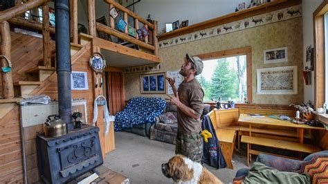 off the grid in alaska tiny home cabin interior tour small Small Off Grid Cabin Interior