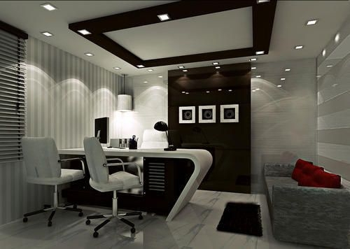 office md room interior work executive tables pinterest office Cabin Office Ceiling Designs