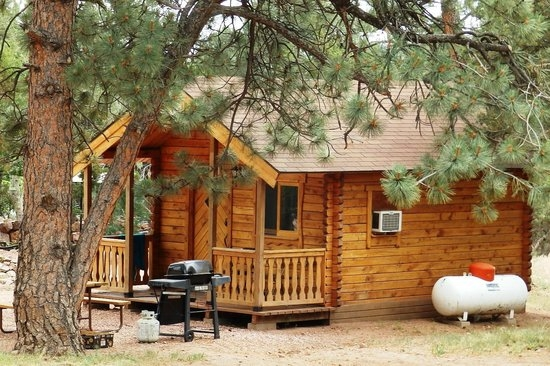 one of their camping cabins picture of mountaindale cabins rv Cabins In Colorado Springs