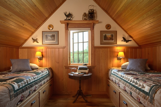 otter tail hunting lodge rustic bedroom minneapolis david Hunting Cabins Interior Rustic