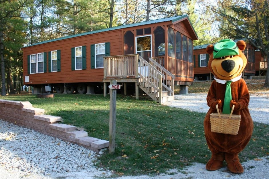 our cabins in wisconsin are 1st rate campjellystone Wisconsin Dells Camping Cabins