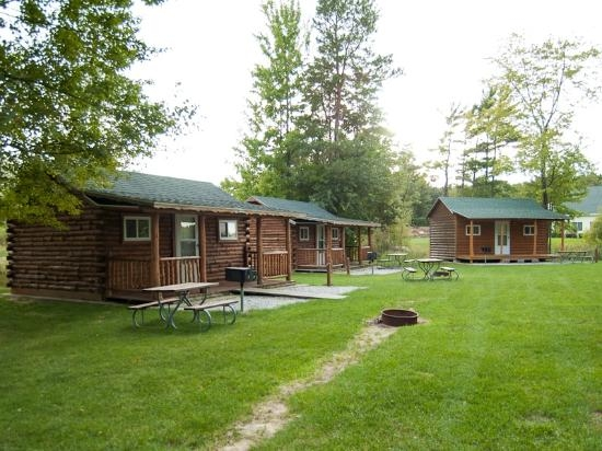 outside of cabins picture of vacation station rv park ludington Ludington State Park Cabins