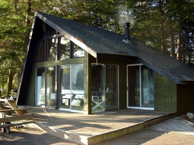perfect lakeside getaway craigs pond homeaway orland cabins near Cabins In Acadia National Park