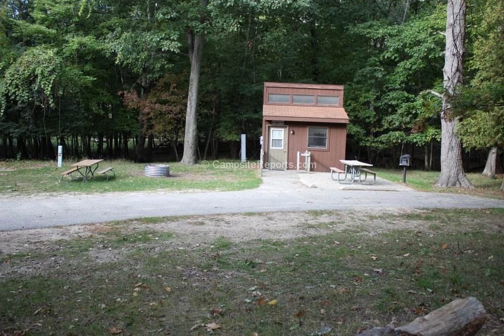 picture of campsite 247 at ludington state park michigan Ludington State Park Cabins
