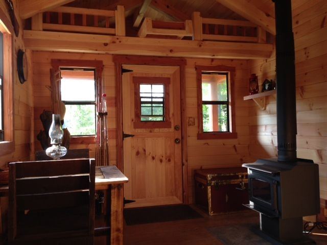 plywood paneling for walls small cabin plans with loft 10 x 20 Small Cabin Plans With Loft 10x20
