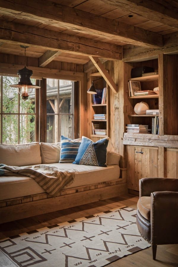 reclaimed post and beam barn transformed to family retreat in idaho Pinterest Outdoor Cabin Decor