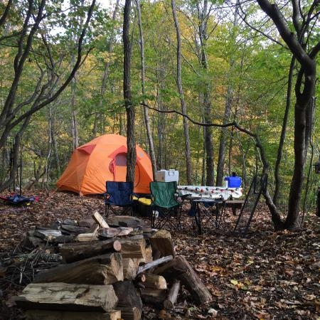remote site 6 r6 set up picture of blue bear mountain camp Bear Mountain State Park Cabins
